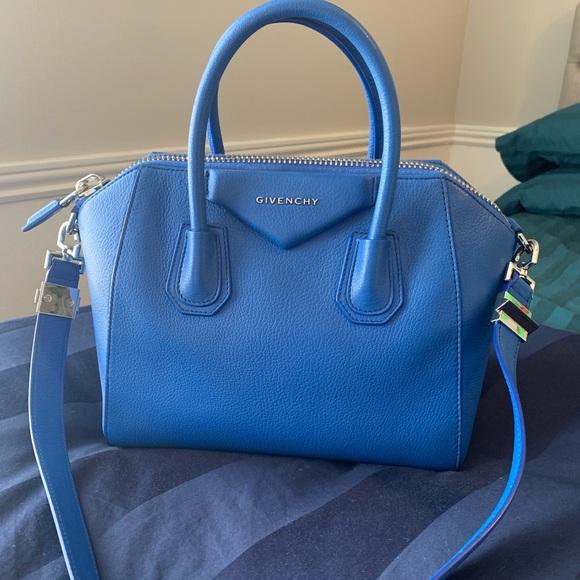 ca29ea6a6c Givenchy Handbags - Givenchy Antigona Small (Indigo Blue)
